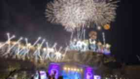 Celebrations: The famous fireworks at Edinburgh's Hogmanay.