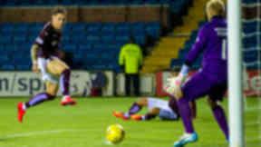 Sam Nicholson strikes winner v Kilmarnock, September 2015