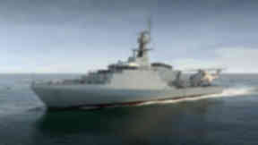 Warship: Artist's impression of new offshore patrol vessels.