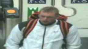 Image of man seen carrying out solo sex act on train between Dundee and Stirling. Pic from Police Scotland. Uploaded on Nov 12 2015.