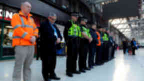 Glasgow Central Station minute's silence for Paris terrorist attacks victims quality news image uploaded November 16 2015