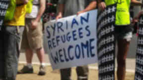 March: STUC rally to welcome refugees.