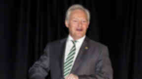 Celtic Chairman Ian Bankier speaks at the Celtic annual general meeting. Image from SNS uploaded Friday, November 20, 2015.
