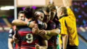 Score: Edinburgh celebrate John Hardie's try at Murrayfield