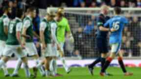 Rangers v Hibs: Andy Halliday was sent off during match after controversial incident.