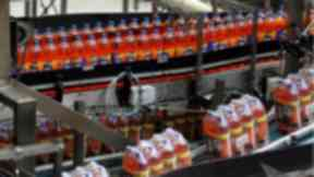 Irn Bru bottles at manufacturing December 31 2015
