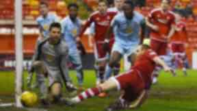 Aberdeen missed several chances to break the deadlock.