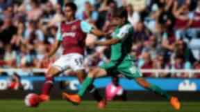 Kyle Knoyle (left) in action against Werder Bremen's Luca-Milan Zander.