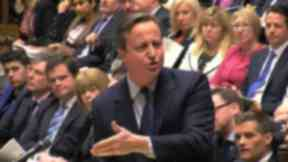 David Cameron: Referred to refugees in Calais as 'a bunch of migrants'.