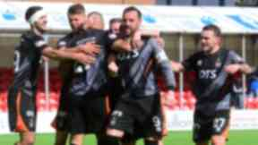 Boost: Kris Boyd found the net at New Douglas Park.