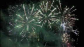 Giant fireworks display
