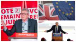 Alan Johnson: The Labour MP compared the Leave campaign to Donald Trump.