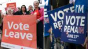 Vote Leave and Remain camps