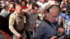 A man believed to be Michael Steven Sandford who investigators say was trying to kill Donald Trump at his rally in Las Vegas
