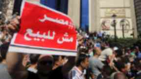 The proposed transfer of Egypt's Red Sea islands to Saudi Arabia led to protests.