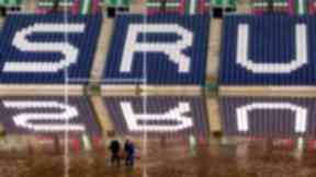 Flooding: Murrayfield rugby stadium was affected in 2000.