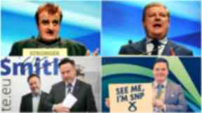 Contenders: Four SNP politicians are vying to become the party's depute leader.