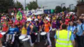 Pride: Marchers paraded through the city.