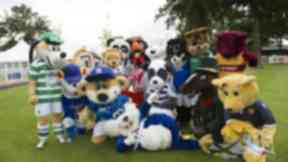 Who claimed gold in the annual SPFL mascot race in Hamilton?