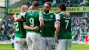 Hibs stride to the top of the table with a 4-0 win over Morton.