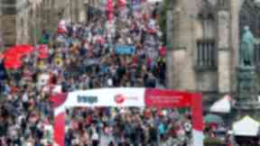 Royal Mile: Millions of festival-goers flocked to the capital this year.