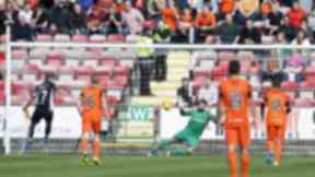 Cammy Bell saved a trio of first half penalties against Dunfermline.