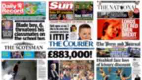 scotpapers Wednesday September 14 2016