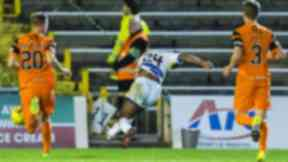 Greenock Morton's Jai Quitongo opens the scoring.