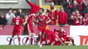 Winner: Aberdeen claimed victory in stoppage-time.