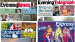 Evening papers collage September 27 2016
