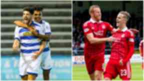Thomas O'Ware and Jai Quitongo (left) could be vital for Morton while Aberdeen could look to James Maddison and Adam Rooney for goals.