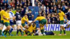 Defeat: Scotland were edged out.