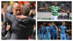 Manchester City take on Celtic in the Champions League