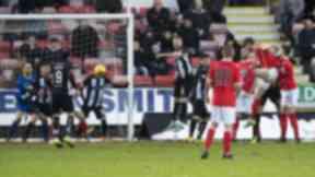 Equaliser: Gary MacKenzie found the net at East End Park.