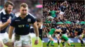 Start: Scotland hit the ground running against Ireland.
