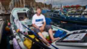 Endurance: Elaine Hopley rowed across in a boat named after her mother.