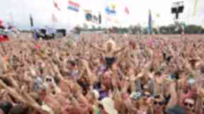 Tens of thousands of music fans attend the fesitval