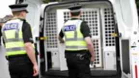 Police van - Police Scotland stock shot - Spring 2017