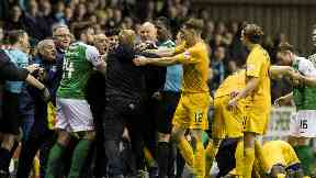 Bust-up: Lennon and Duffy both face charges.