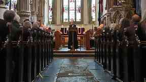 Church service stock/generic image from PA
