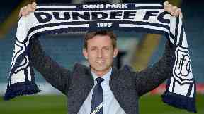 Neil McCann appointed Dundee FC boss with scarf at Dens Park