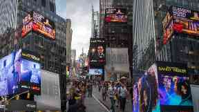 Glasgow Glows tourism advert in Times Square, New York