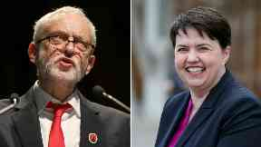 Jeremy Corbyn and Ruth Davidson