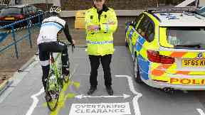 Photo for Operation Close Pass, police cycling safety campaign.