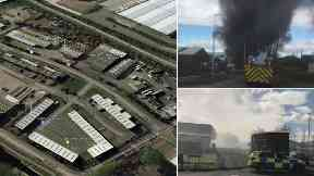 Large blaze rips through industrial estate in Falkirk