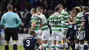 Scott Brown red card Ross County