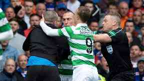 Scott brown attacked by rangers fan