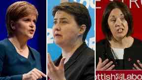 Nicola Sturgeon, Ruth Davidson and Kezia Dugdale composite
