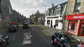 Inverurie West High Street, where youths brawled on Monday May 8 2017