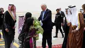 Donald Trump touches down in Saudi Arabia for first foreign tour as president